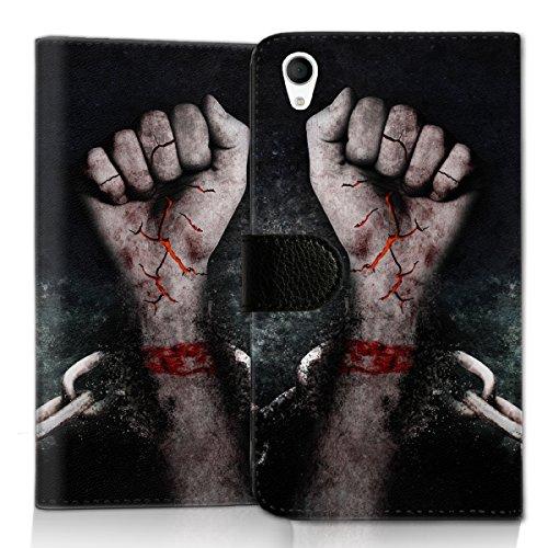 wicostar Wallet Book Style Flip Handy Tasche Hülle Schutz Hülle Schale Motiv Etui für LG L Bello 2 - Flip UMH13 Design2