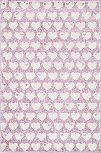 byGraziela Kinderteppich Design Herzen rosa/Weiss 120x180cm