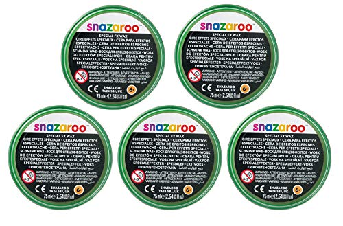 Snazaroo FX Wax, 18ml X 5 TUBS, Special Effects Makeup by Unknown