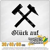KIWISTAR - Glück auf! - Bergbau - Kumpel Heckscheibe in 15 FARBEN Aufkleber Sticker