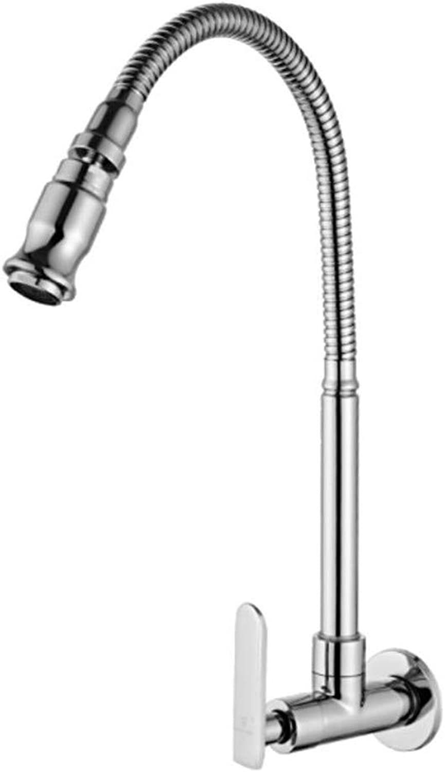 Taps Mixer?Swivel?Faucet Sink Balcony of Mop Pool, Washing Pool, Balcony, Single-Cooled Kitchen, Sink, Vegetable Basin, Faucet, Universal Pipe Into Wall Faucet