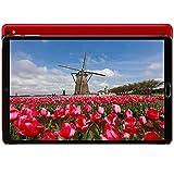 Tablet 10 Pulgadas 4GB RAM 64GB ROM Android 10 GOODTEL Tablets con WiFi | 8000mAh | Bluetooth | GPS | IPS | FM | MicroSD 4-128GB Expandible, Sin Teclado y Ratón, Rojo