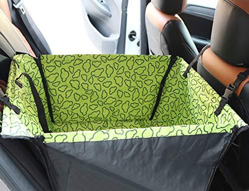 Asiento de coche para perro para asiento trasero, impermeable, suministros de coche, asiento elevador para mascotas con correa de seguridad, protector de asiento trasero, hamaca, perro, portador de coche