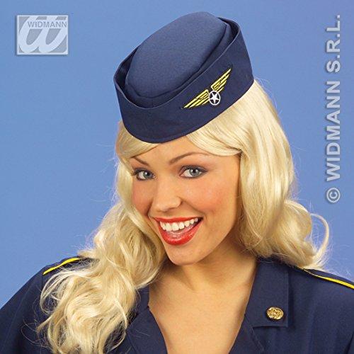 Stewardess Hut Flugbegleiterin Mütze Pilotenmütze Damen Fasching Pilotin Kopfbedeckung Flugkapitän Haube Schiffchen Kappe Faschingsmütze Uniformen Mottoparty Accessoire Karneval Kostüm Zubehör
