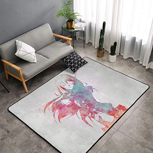 Your Lie in April Carpet Area Bedroom Camping Soft Mat Kids Blankets Room Comfortable and Durable Decor Rug 60 X 39 In