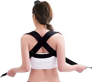 Filfeel Back Posture Support, Elastic Adjustable Posture Back Support Corrector Correction Chest Brace Shoulder Band Belt