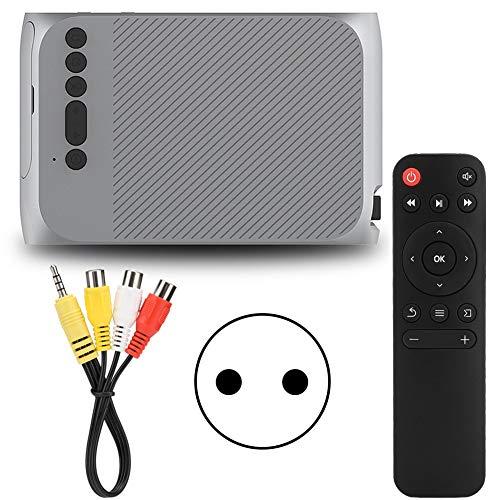 Mini Proyector, Proyector de Películas Portátil 1080P HD con Control Remoto para TV Stick, PS4, HDMI, VGA, TF, AV, USB(Enchufe de la UE)