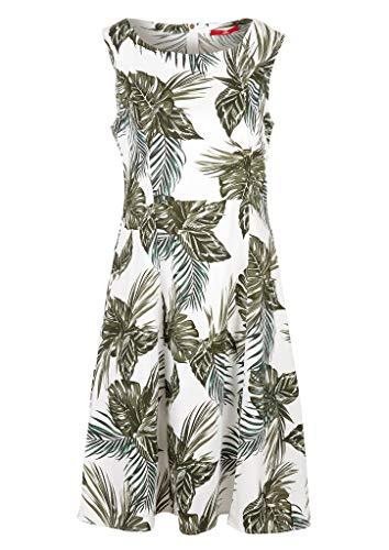 s.Oliver Damen Kleid mit Allovermuster off-white AOP 36