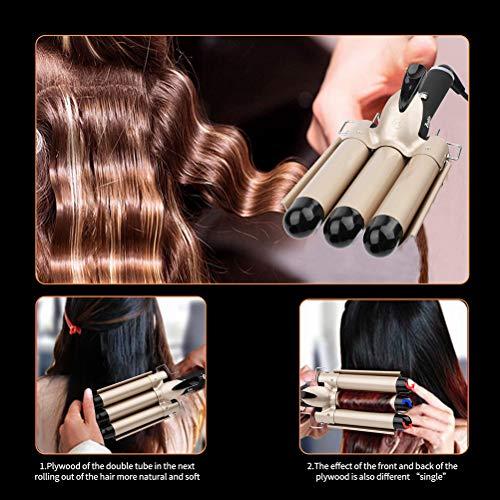3 Barrel Curling Iron Wand, Zealite Ceramic Tourmaline 1 Inch Crimper Hair Iron, Hair Waving Styling Tools for Women or Girls