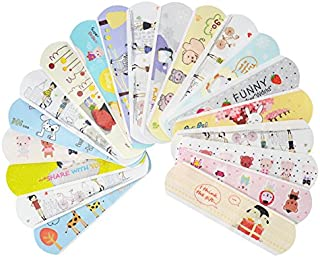IdealPlast 100 Count Water Resistant Breathable Bandages Cute Cartoon Hemostasis Adhesive First Aid for Kids Children