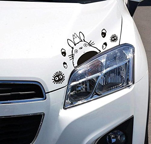 2 Pcs Cute Kawaii Animal Cartoon Anime Totoro Car Sticker Decorative Combination Window Wall Laptop Stickers Decal Notebook Deco Auto Decoration Home Decor Decals DIY Novelty Gift