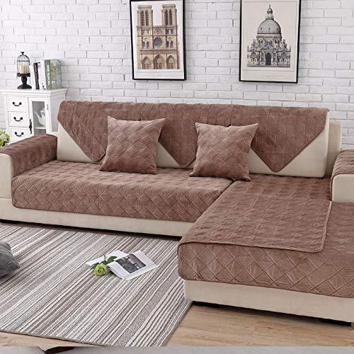 Couch schonbezug,schonbezüge für Sofa,sofaschoner ecksofa,Couch überwurf,Winter Plüsch Sofa Schonbezug,Dicke 1/2/3/4 Sitzer Couchbezug,weiche rutschfeste Sofabezug für Stoffsofa/Ledercouch-Leichter