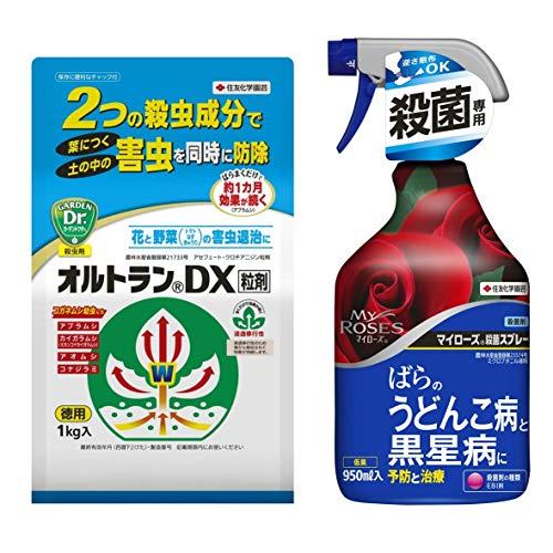 【セット買い】 住友化学園芸 殺虫剤 オルトランDX粒剤 1kg & 殺菌剤 マイローズ殺菌スプレー 950ml