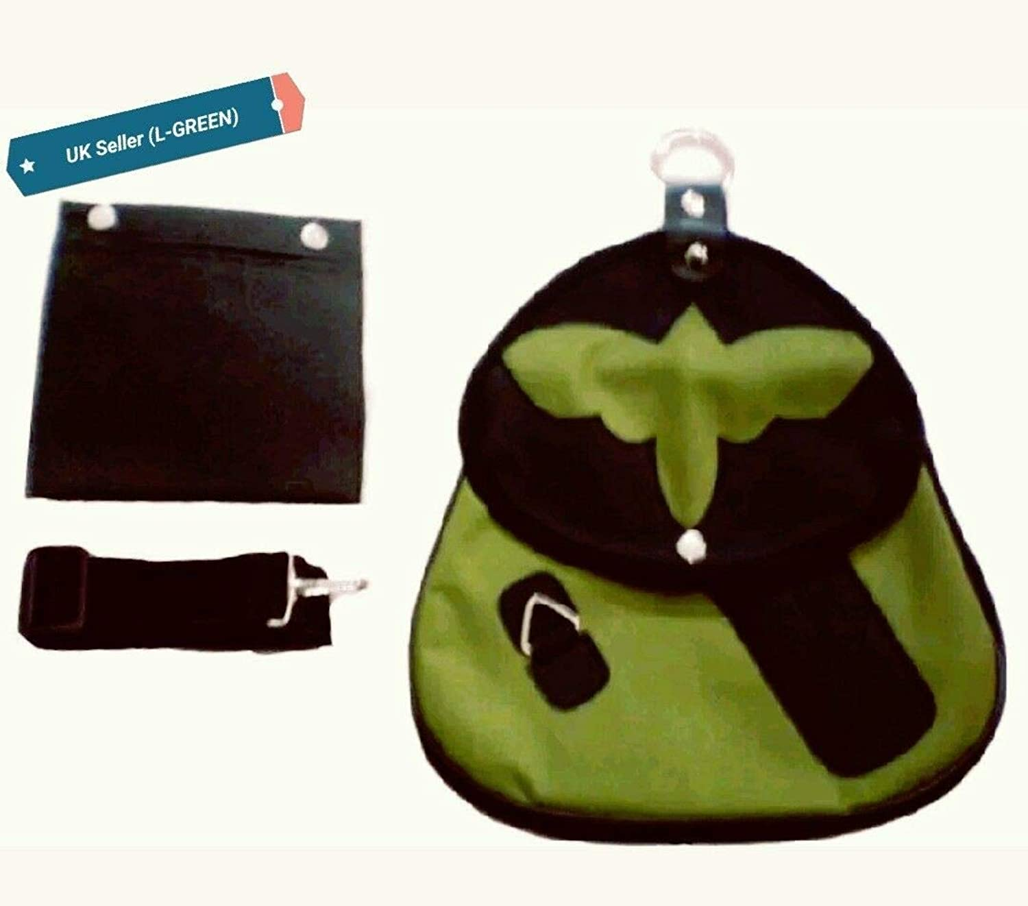 Falconry Cordura Bag, Hunting Bag with Strap & Detachable Meat Pocket, New Green