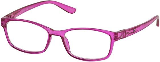 Bunny Eyez Ruthie Wearable, Tilt-able, Flip-able Women's Reading Glasses - Pretty in Pink Crystal (+2.75)