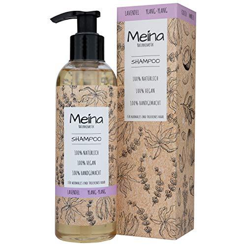 Meina Naturkosmetik - Bio Shampoo mit Lavendel und Ylang-Ylang - Vegan Haarshampoo ohne Mikroplastik, Silikone, Sulfate und Parabene