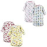 Hudson Baby Unisex Baby Cotton Long-Sleeve Wearable Sleeping Bag, Sack, Blanket, Fruit Cactus 4-Pack, 0-3 Months