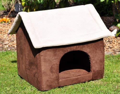 nanook Hundehöhle Katzenhöhle XL Chalet Cosy Kratzfest formstabil braun 60 cm