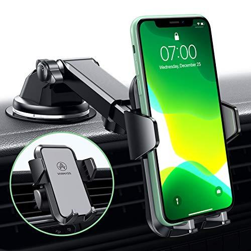 VANMASS Handyhalterung Auto 3 in 1 Lüftung & Saugnapf Stabil 100{e8f5a052b5535b1c68cd5026c803648b8cbfb073ee567de4feddce06b880e6a3} Slilikonschutz Handyhalter Fürs Auto Universale Kfz Handyhalterung 360°Drehbar Autohalterung Für Alle Handy iPhone Samsung Huawei LG