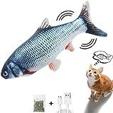 Sinicyder Flippity Fish, USB Katzenspielzeug Elektrisch Fisch Katzen...