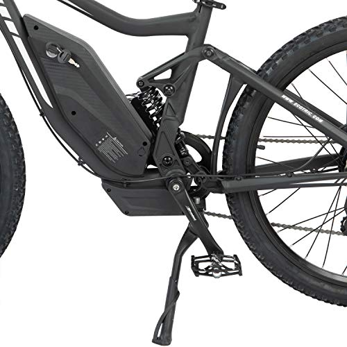 ECOTRICPowerful Electric Bike 750W Motor 48V/12AH Battery W/Aluminum Suspension Frame & Fork Mountain Bike Beach Snow Ebike Bicycle Moped Throttle & Pedal Assist