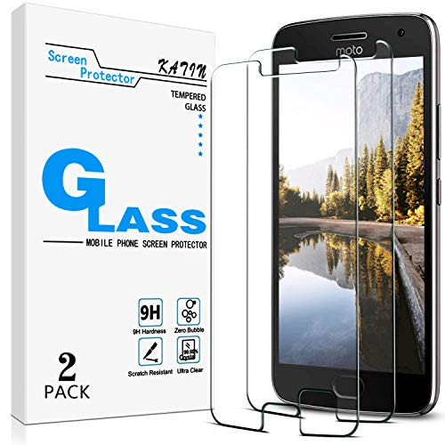 KATIN Moto G5 Plus Screen Protector - [2-Pack] Tempered Glass for Motorola (Moto G5 Plus) / Moto G Plus (5th Generation) Screen Protector Bubble Free with Lifetime Replacement Warranty