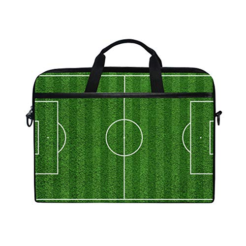 EZIOLY Top-View-Of-Soccer-Field-Football-Field-Laptop Shoulder Messenger Bag Case Sleeve for 13 Inch to 14 inch Laptop