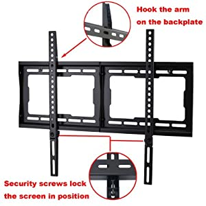 """VideoSecu Low Profile TV Wall Mount Bracket for Most 32"""" - 75"""" LCD LED Plasma HDTV, Compatible with Sony Bravia Samsung LG Haier Vizio Sharp AQUOS Westinghouse Pioneer ProScan Toshiba 1NN"""