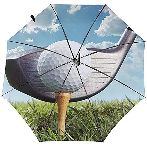 Paraguas de Viaje a Prueba de Viento Impreso del Club de Golf: toldo Reforzado a Prueba de Viento