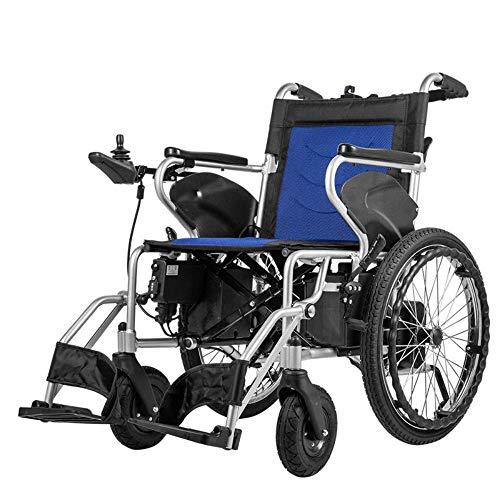 Y-L Ouderen Gehandicapten Motion Healthcare Lite Trekker Powerchairs - Elektrische Gemotoriseerde Rolstoel voor Volwassenen Twee Hoge Snelheidsmotoren, Reda, Enkele Controle, Bluea,