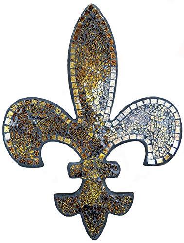 Lulu Decor, Fleur de Lis Dekor, Wanddeko, perfekt als Einweihungsgeschenk (Bernsteinmosaik S16)