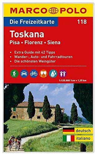 MARCO POLO Freizeitkarte Toskana, Pisa, Florenz, Siena 1:125:000