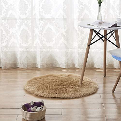 MENEFBS Alfombra suave y peluda para la cabecera, alfombra para sala de estar, dormitorio, 100 cm
