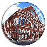 Weekino Stati Uniti d'America Ryman Auditorium Nashville Calamità da frigo 3D Cristallo Bicchiere Tourist City Viaggio Souvenir Collezione Regalo Forte Frigorifero Sticker