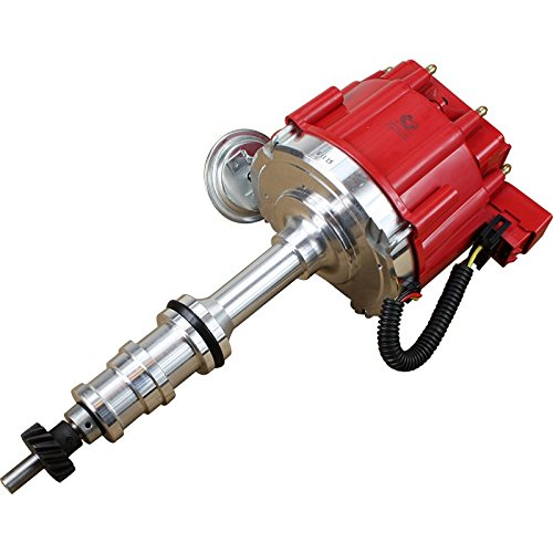 """Dragon Fire High Performance Race Series Complete HEI Electronic Ignition Distributor Compatible Replacement For Ford FE 332 352 360 361 390 391 406 410 427 428 V8 With 1/4"""" Oil Pump Drive Gear Oem F"""