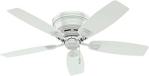 """Hunter Sea Wind Indoor / Outdoor Ceiling Fan with Pull Chain Control, 48"""", White"""