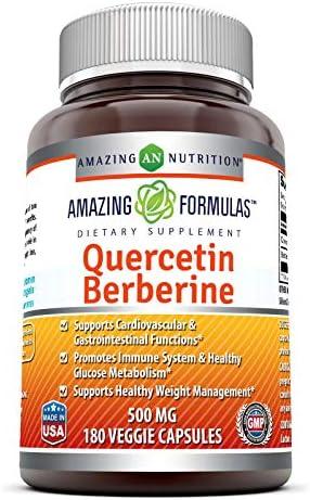 Amazing Formulas Quercetin Berberine 250 mg of Berberine and 250 mg Quercetin in Each Veggie product image