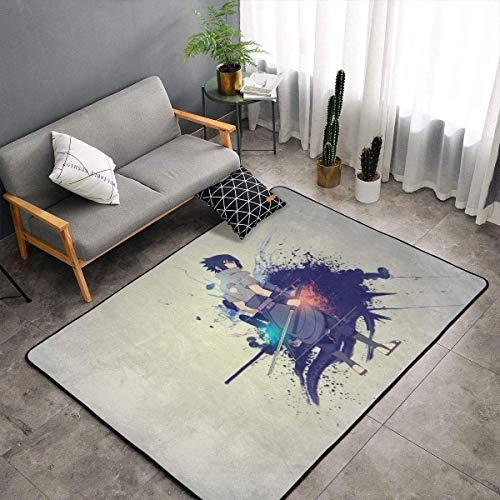 gaoyou Naru-to Uchiha Sasuke - Alfombra para dormitorio, camping, suave, cómoda, duradera, decoración de poliéster, 60 x 39 pulgadas