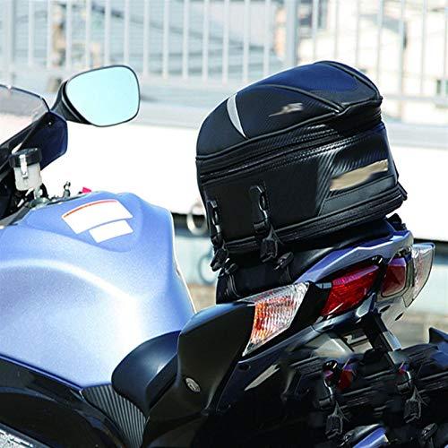 Bolsas Sillin Moto Asiento trasero de la motocicleta, casco de embalaje del bolso bolsa compatible con Yamaha FZ6 YZFR1 YZFR6 R3 FZ1 FZ8 MT09 MT07 MT03 MT25 MT10 XSR900 XSR700 Bolsa de sillín