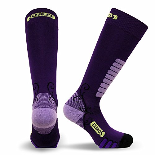 Eurosocks Women's Snow Skiing Sock, Purple, Small