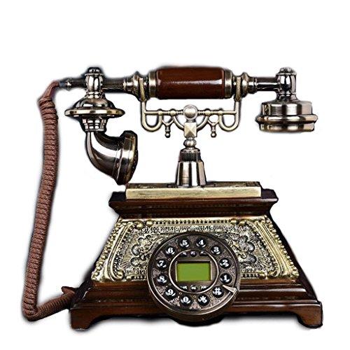 YSNUK Teléfono Fijo, Asiento Retro, anticuado, Antiguo, Antiguo, línea Fija Teléfono rotatorio