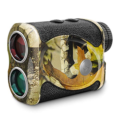 800 Yards Hunting Range Finder, Wild Waterproof Camo Rangefinder for Bow Archery Shooting, 6X Magnification High-Precision Laser Rangefinder Free Battery, Carrying Case