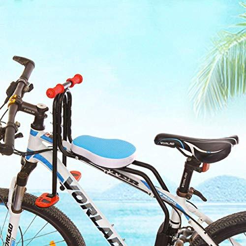Kindersitz Fahrradsitz Kind Modischer Abnehmbarer Fahrrad-Vordersitz Kindersitz Halterung Pedal mit Griff für Herrenfahrrädern und Damenrädern Hohe Qualität Sicherheit (Blau)