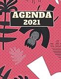 Agenda 2021: Organisateur Quotidien Pour Homme et Femme: 21,59 x 27,94 cm Grand Agenda Quotidien 2021, Une Page par Jour, 382 Pages