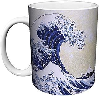Katsushika Hokusai The Great Wave Japanese Fine Art Ceramic Gift Coffee (Tea, Cocoa) 11 Oz. Mug