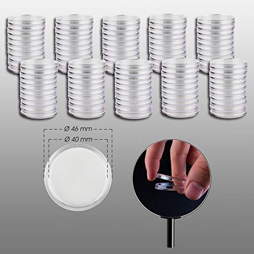 Prophila Cápsulas para Monedas diámetro 40 mm Paquete de 100