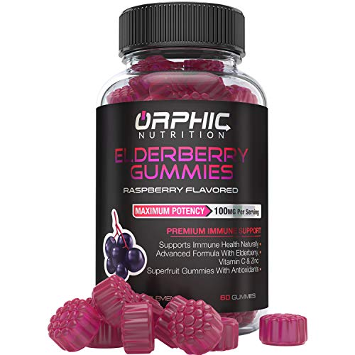 Elderberry Zinc & Vitamin C Gummies - Immune System Support - Premium Antioxidant Formula for Men, Women and Kids - Best Source of Vitamin C - 100MG of Elderberry for Immune Support
