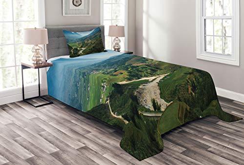 ABAKUHAUS Viêt-Nam Couvre-Lit, Rice Field Terrasses Tavan, Technologie numérique la Plus Moderne, 170 x 220 cm, Multicolore