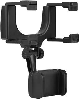 Qillu Rückspiegel Halterung Auto, Universal Auto Rückspiegel Smartphone Handy Halterung Halter Ständer für iPhone Samsung HTC