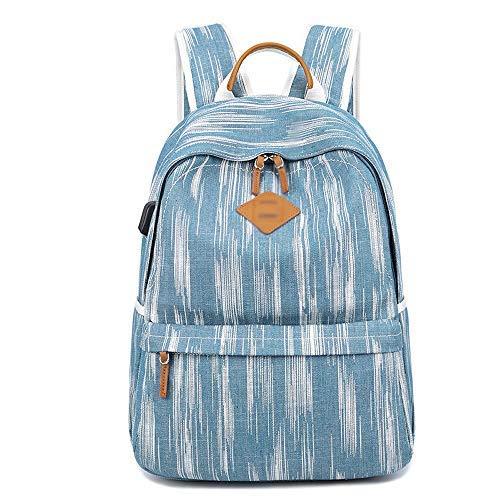 Yeeseu Denim Daypacks Casual, College Bookbag for niñas/niños, Viajes, Deportes al Aire Libre Mochila Mochila (Color : Blue)